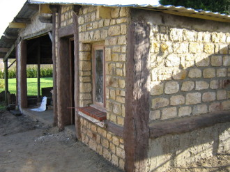 Sculpture faux bois et fausses pierres, chantier
