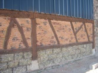 Mur imitation brique en béton