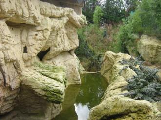 décor en béton sculpté