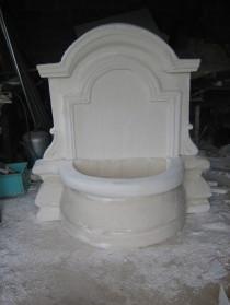dallage sculpté initiation, fausse pierre, Fontaine