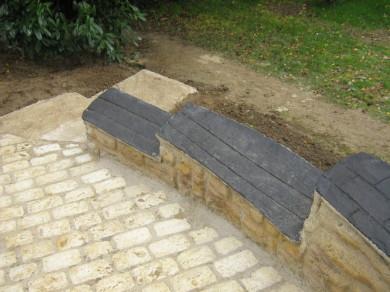 Mur béton ardoise